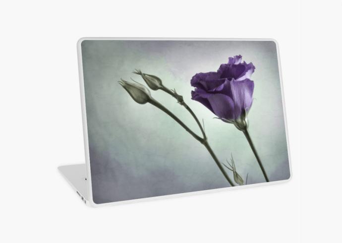 purple flower fine art laptop skin
