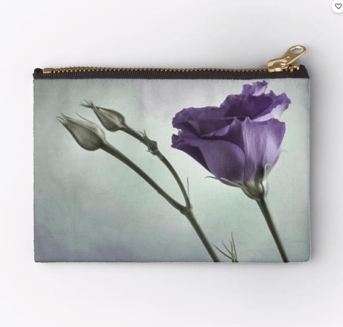 purple flower purse