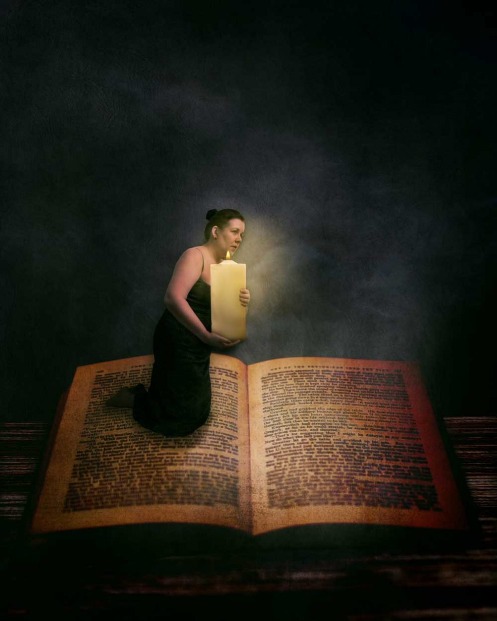 Reading by Candlelight - a new fine art photograph from Sara Sadler