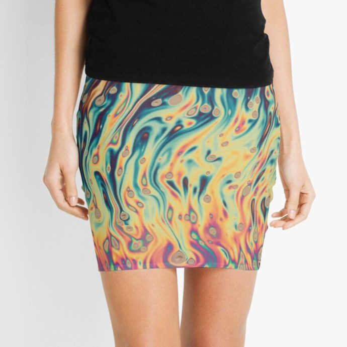 new products on Redbubble. A rainbow design on a skirt