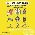 Indie week at the just a card campaign