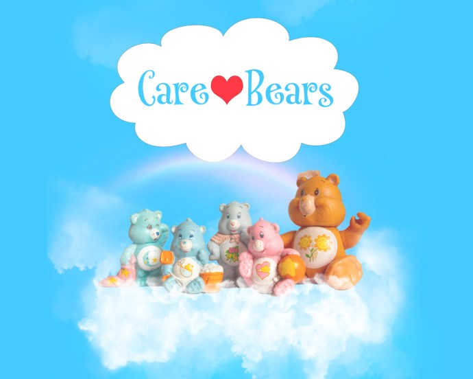 recreating a 1980s advert for Care Bears