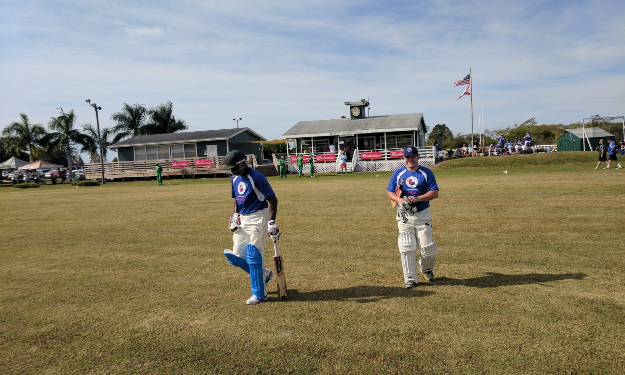 Houston Memorial Batsmen Coming out to Bat
