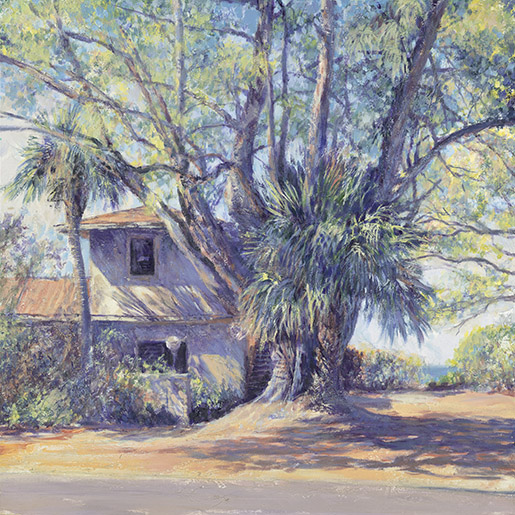 """Longboat Key House. Acrylic on canvas. 30""""x30"""" Giclee on canvas at Collectors Gallery & Framery. 114 South Nokomis Ave., Venice, FL phone (941) 488-3029"""