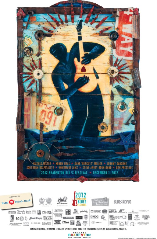 2012 Bradenton Blues Festival Poster by Mary GrandPre