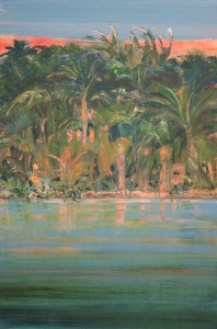 Maro Lorimer Old Florida acrylic on gallery wrapped canvas 36 x 24 inches