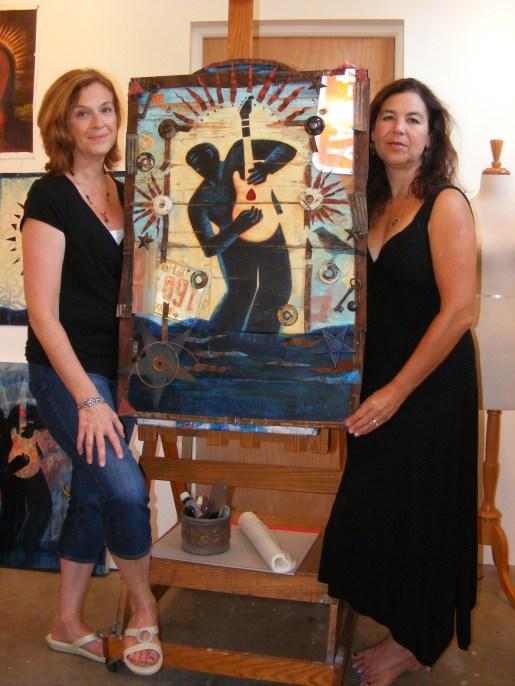 Mary GrandPre and Paula Murray with 2012 Bradenton Blues Fest