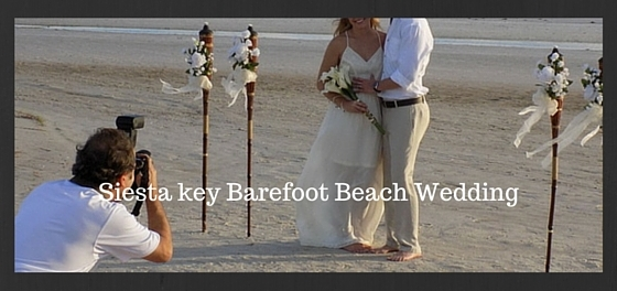 Siesta key barefoot beach wedding Image 1