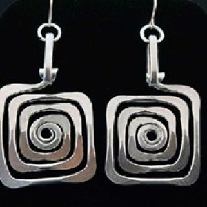 Square Spiral Earrings