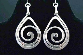 Teardrop Spiral Earrings