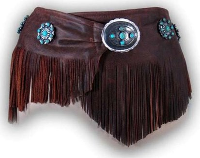 Patricia Wolf Vaquero Wrap Belt on WWII Cowhide