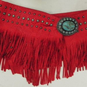Patricia Wolf Red Bandalero Wrap Belt