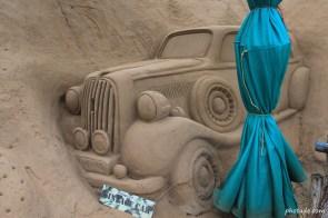 Sand Art of Vintage Car