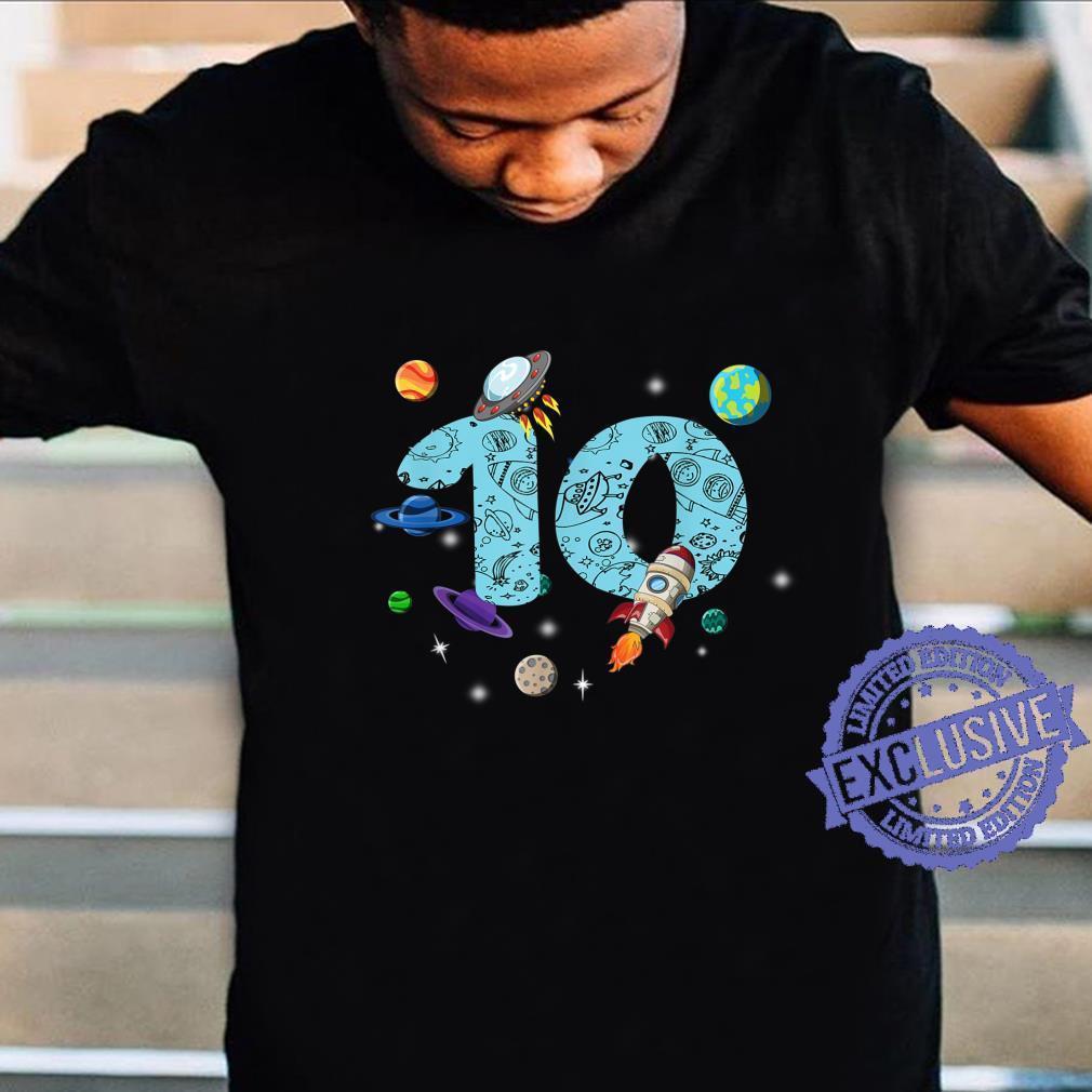 10 Years Old Birthday Boy Space 10th Birthday Shirt