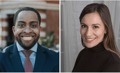 Zellnor Myrie and Alessandra Biaggi are two of the Democrats who beat former IDC members in Thursday's state Senate primaries. Photo Credit: Composite photo; Moon Baby Photo, left, and Zellnor for New York