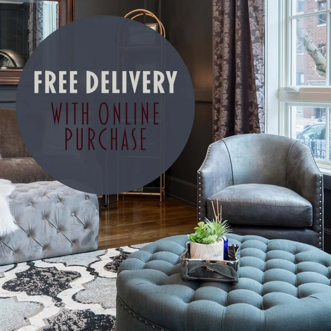 Free Delivery With Online Purchase Furniture Instagram Ad Design By Sara Turbyfill.