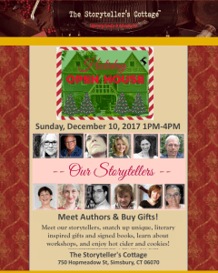 storytellers cottage holiday open house