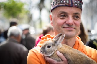 1. A man with a rabbit (Belleville)