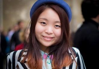 3. A girl with a blue hat (Le Marais)