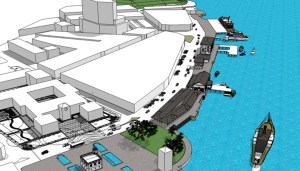 For the record: visual of SHS 2008 proposal for the conservation of Gambier street old markets.