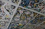 Dyak ceiling and wall paintings, Segu bungalow