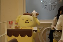 If you come to the restaurant by yourself, they'll seat you in front of Pom Pom Purin himself so you won't be lonely! LOL