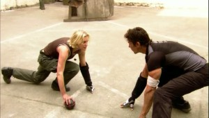 Even in the BSG universe, sports is foreplay for badasses. (Image courtesy of the Battlestar Galactica Wiki)