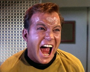 And now you know what William Shatner's o-face looks like. Thanks, Star Trek... (Image courtesy of the Star Trek wiki)
