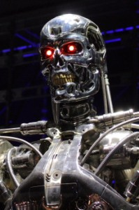 """The glowing red eyes are a nice touch, though it doesn't exactly scream """"stealth."""" (Image courtesy of the Terminator Wiki)"""