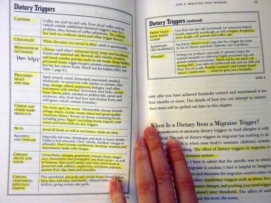 Migraine diet from David Buchholz's Heal Your Headache