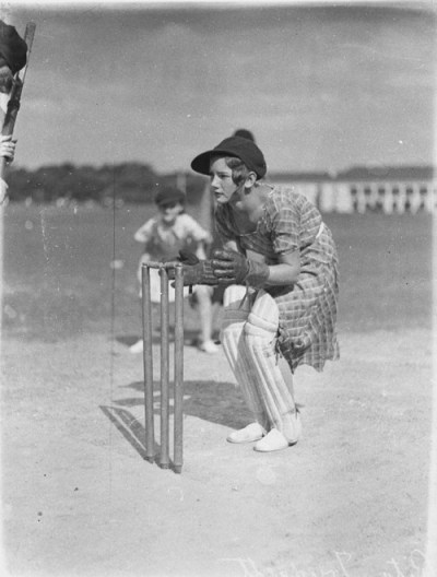Rita Trudgett, wicket keeper, Australia, 1930s by Sam Hood