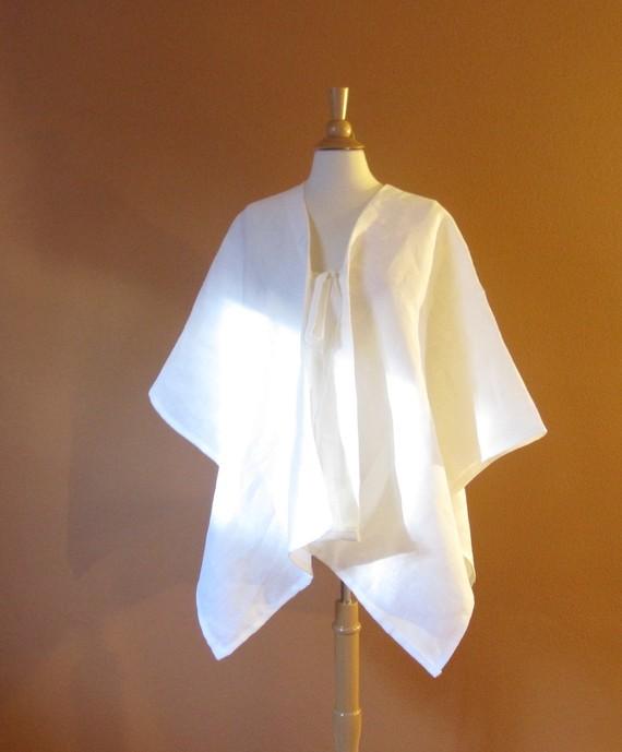 heavy linen origami wrap | linenclothingbyanny