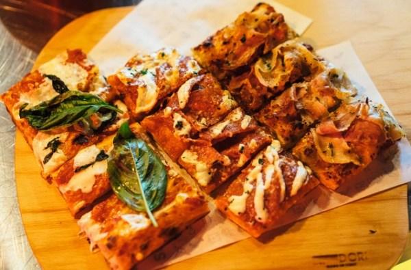 pizza al taglio in teglia