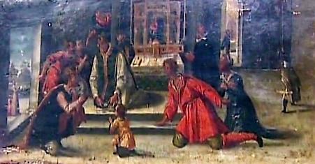 Tavola del pittore manierista Francesco Pinna sul Miracolo Eucaristico di Mogoro