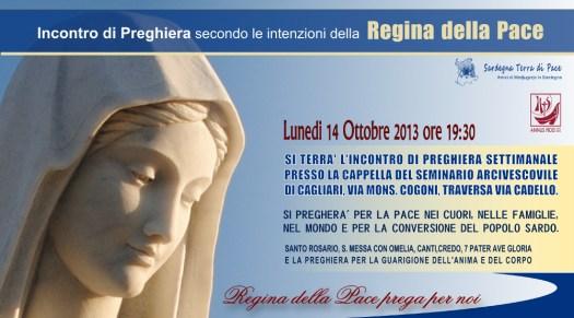 Locandina Incontro di Preghiera Settimanale del 14 Ottobre 2013