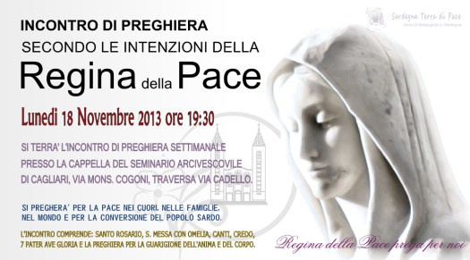 Locandina Incontro di Preghiera Settimanale del 18 Novembre 2013