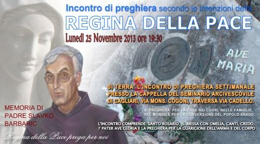 Locandina Incontro di Preghiera Settimanale del 25 Novembre 2013