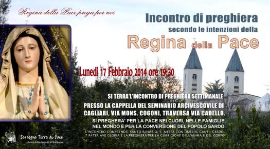 Locandina Incontro di Preghiera Settimanale del 17 Febbraio 2014
