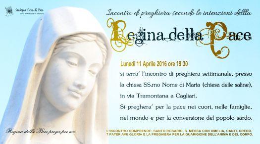 Locandina Incontro di Preghiera Settimanale del 11 Aprile 2016