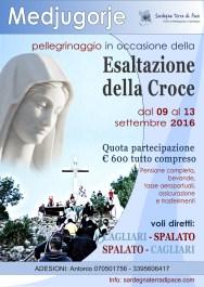 Locandina Pellegrinaggio Medjugorje per l'Esaltazione della Croce 2016 - Foto di Sardegna Terra di Pace – Tutti i diritti riservati