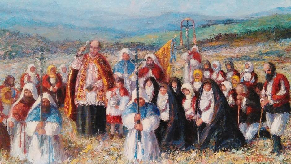 Benedizione dei campi - Antonio Ballero (1920)