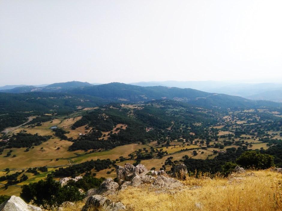 Il panorama da Monte Gonare