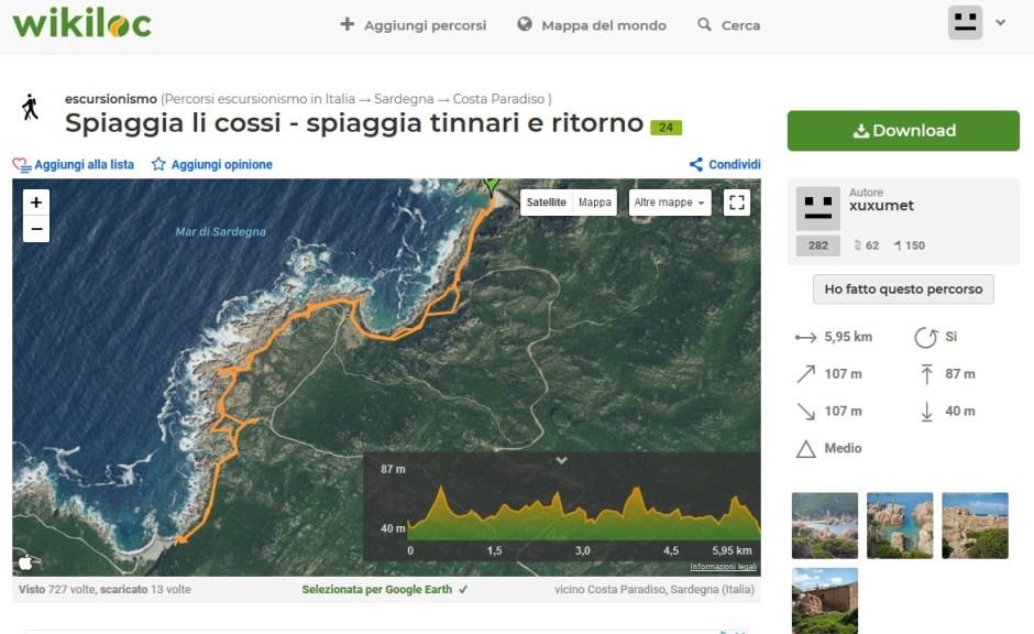 Trekking da Li Cossi a Tinnari