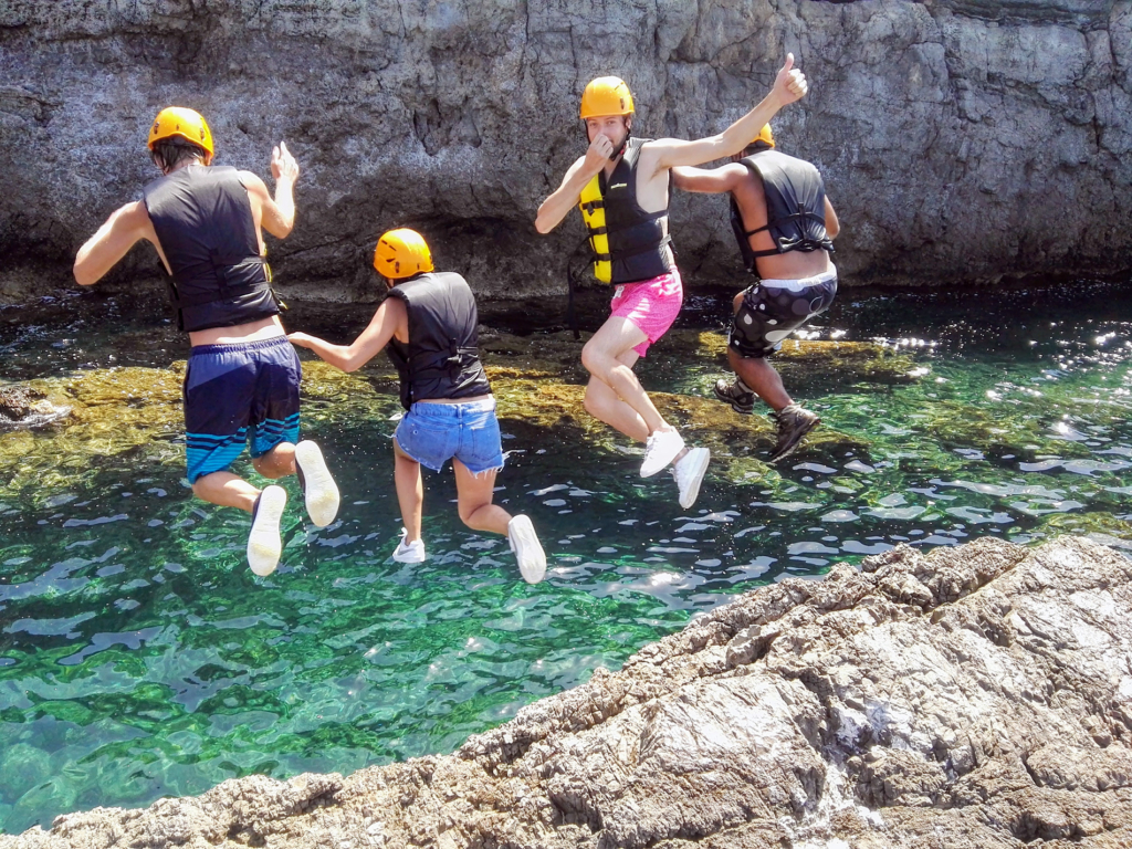 Coasteering experience in sardinia