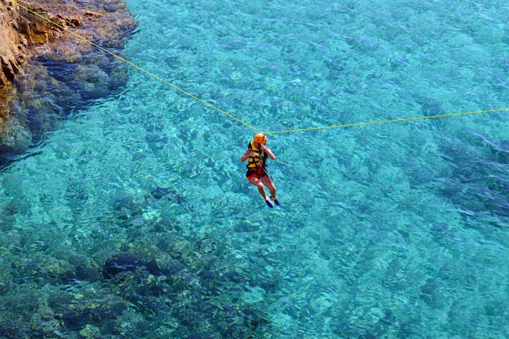 seazip, zipline on the sea, across the sea, ziplining