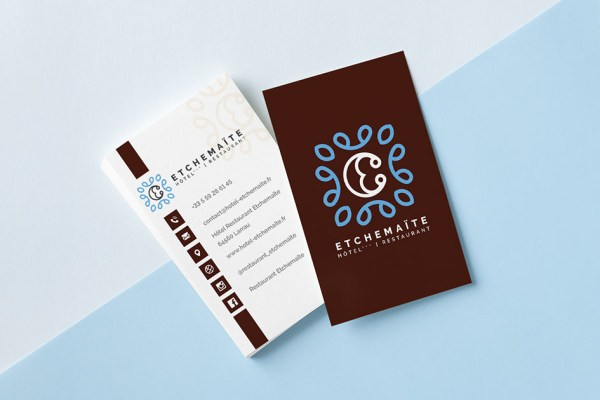 Cartes de visite Hotel Restaurant Etchemaite