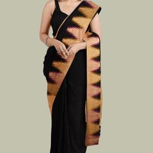 Black Kanjivaram Silk Saree
