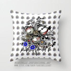 Throw Pillow Covers, Apple pillow,16x16,18x18,20x20 inches,apple art, home decor design,decorative pillow, apple pattern