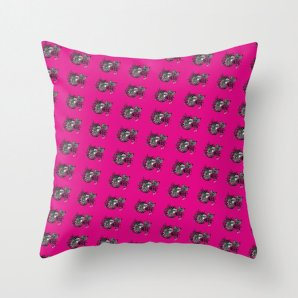 """Throw Pillow Cover,""""A lot of HUGS MAGENTA Pattern""""16x16,18x18,20x20 inches,color magenta pillow, home decor design,decorative pillow,pattern"""