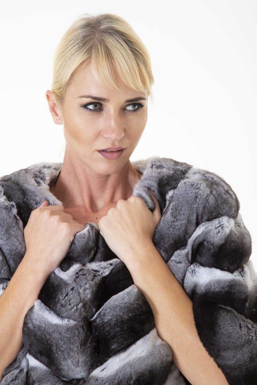 Chinchilla Fur Blouse | Блуза из меха шиншиллы с коротким рукавом - Sarigianni Furs